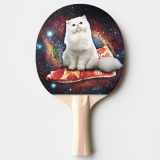 Space cat pizza ping pong paddle