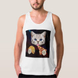 Space Cat with taco and pizza Tanktops