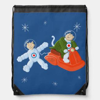 Space Cats Drawstring Bag