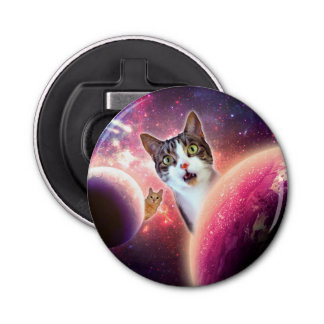 """Space Cats"" LOL Funny Bottle Opener"