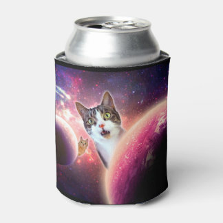 """Space Cats"" LOL Funny Can Cooler"