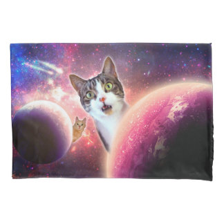 """Space Cats"" LOL Funny Pillowcases"