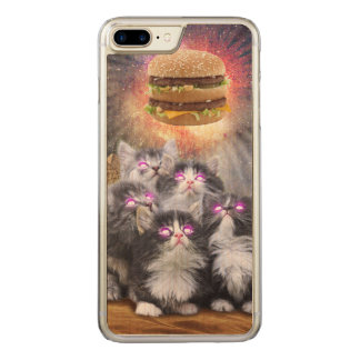 space cats looking for the burger carved iPhone 8 plus/7 plus case