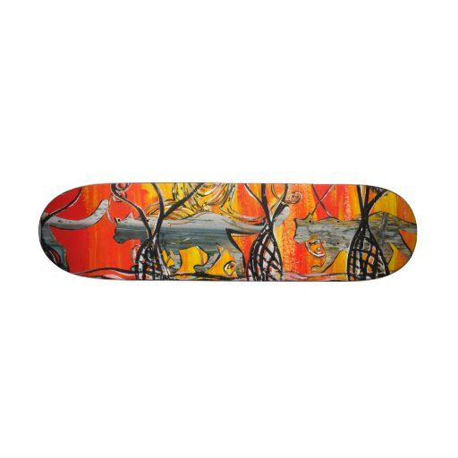 Space Cats Skateboard