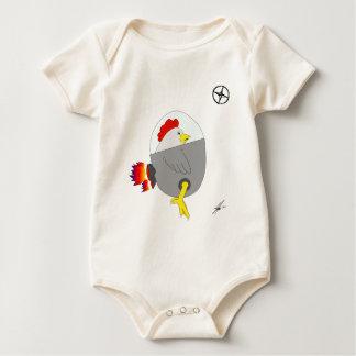 Space Chicken Baby Bodysuit