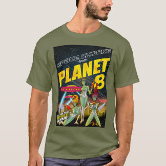 Space Chicks From Planet 8_full colour T-Shirt