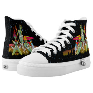 Space Chicks From Planet 8 High Tops