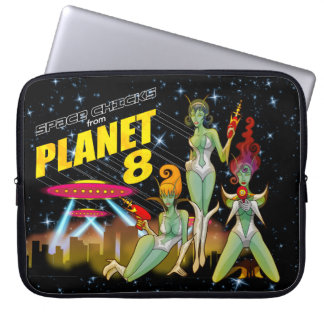 Space Chicks From Planet 8 laptop case