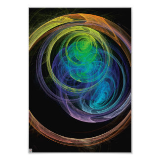 Space Circles Photographic Print