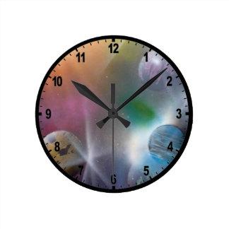 Space Round Wall Clocks