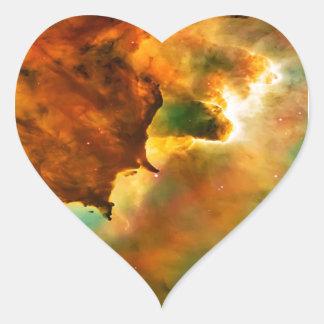 Space cloud nebula heart sticker