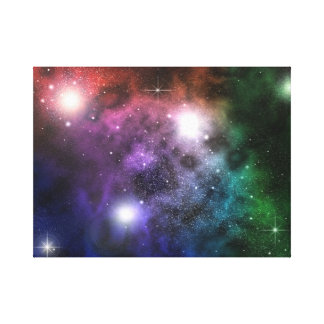 Space Clouds Gallery Wrap Canvas