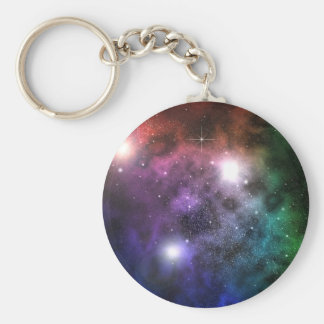 Space Clouds Key Ring