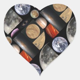 space collage heart sticker