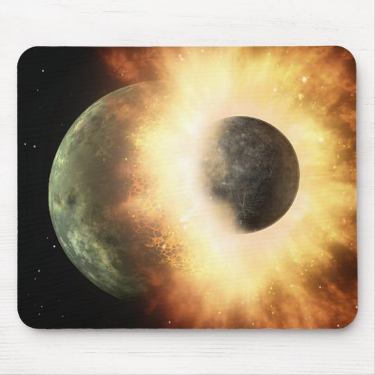 Space Collision Mouse Mat