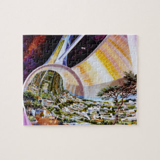 Space Colony Artwork Jigsaw Puzzle