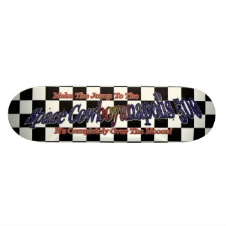 Space Cowboyanapolis 5oo-Completely Over The Moon! Skate Decks