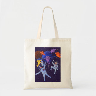 Space Cows and Space Elephants Budget Tote Bag