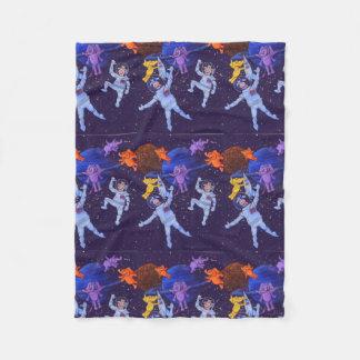 Space Cows Fleece Blanket