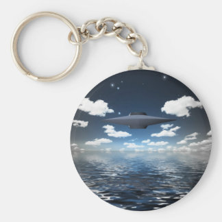 Space Craft Basic Round Button Key Ring
