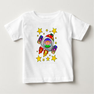 Space craft taking off baby T-Shirt
