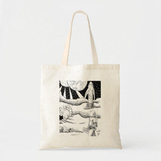 Space Crash B&W Tote