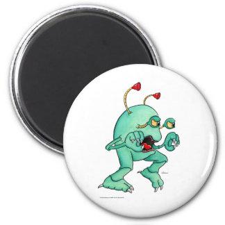 Space Creature 2 6 Cm Round Magnet