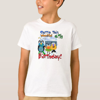 Space Creatures 6th Birthday T-Shirt