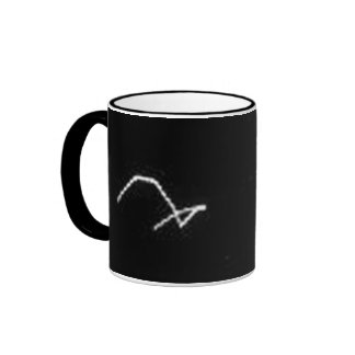 Space Critter at Enceladus Ringer Coffee Mug