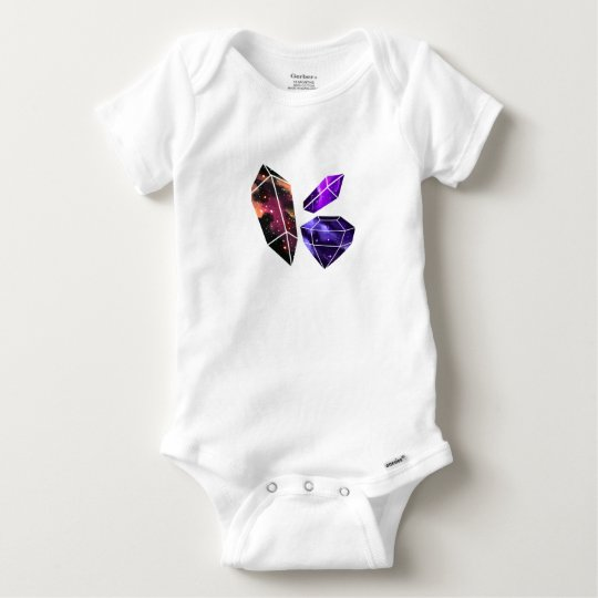 Space Crystals Baby Bodysuit