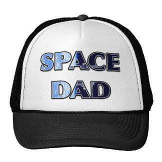 """""""SPACE DAD' Satellite Design Trucker Hats"""