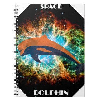 Space Dolphin. Spiral Notebook