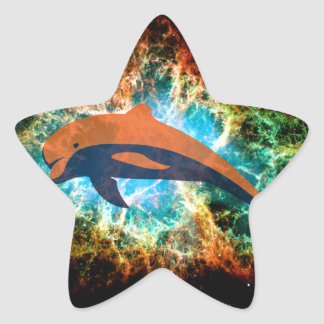 Space Dolphin. Star Sticker