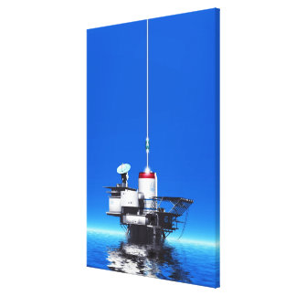 Space Elevator Stretched Canvas Print