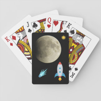 Space Emoji Moon Playing Cards