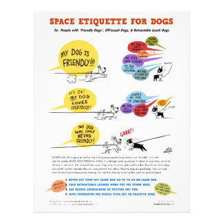 "Space Etiquette For Dogs - 8.5"" x 11"" Flyers"