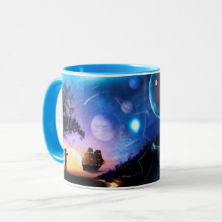 Space Exploration Artwork Voyager Spacecraft Mug