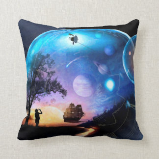 Space Exploration Artwork Voyager Spacecraft Throw Pillow