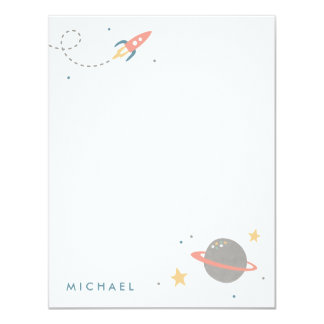Space Exploration Stationery Card