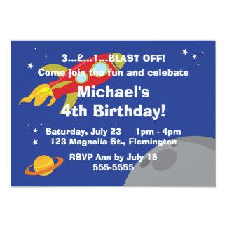 Space Explorer 13 Cm X 18 Cm Invitation Card