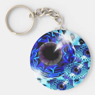 Space eye basic round button key ring