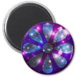 Space flower fridge magnets
