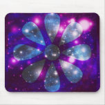 Space flower mouse pad