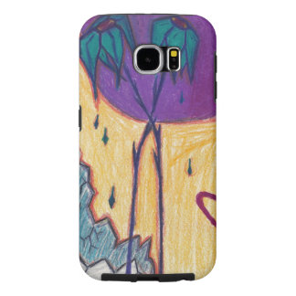 Space Flowers Samsung Galaxy S6 Cases