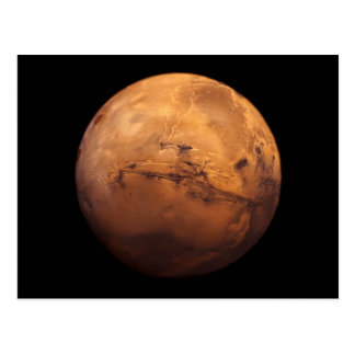 Space Full Color of the Planet Mars Postcard