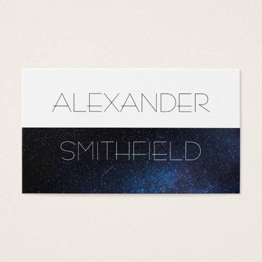 space galaxy star modern simple business card