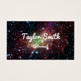 space galaxy stars modern simple business card