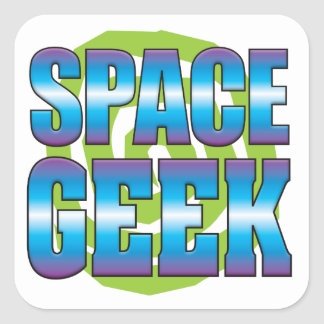Space Geek v3 Square Sticker