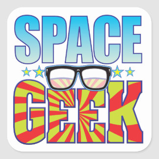 Space Geek v4 Square Sticker