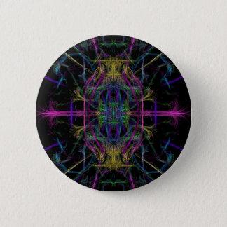 Space geometric drawing 6 cm round badge
